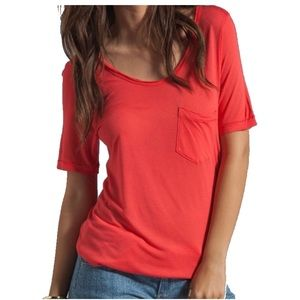Feel the Piece Red Tissue Pocket Tee, XS
